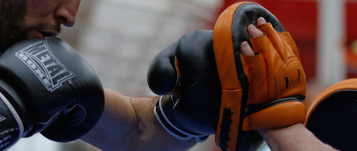 Boxing jab pad