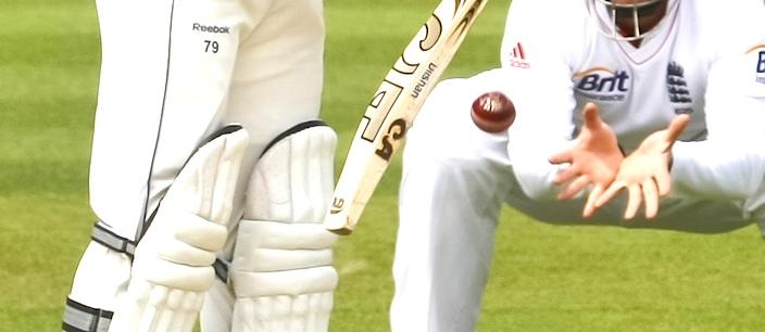 Cricket Batter deflects ball
