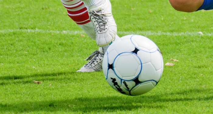 Football just off the ground