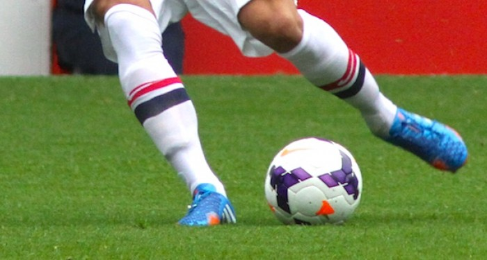 Kicking the football