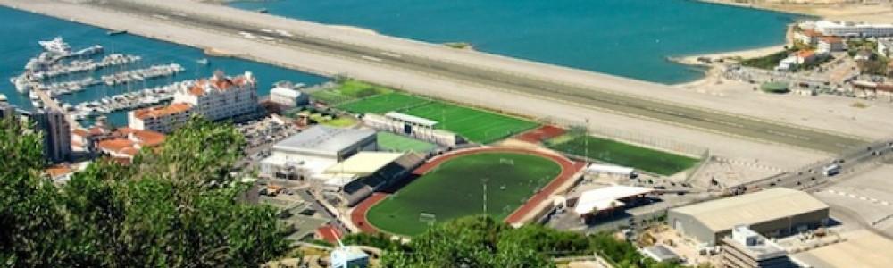 Gibraltar Airport and Victoria Stadium