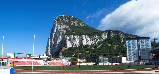 Gibraltar_Rock_and_Football_Stadium. Photo: Johnny Napoli
