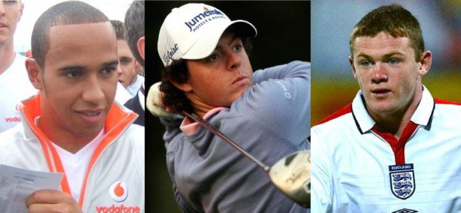 Hamilton in 2007, McIlroy in 2009, Rooney in 2007