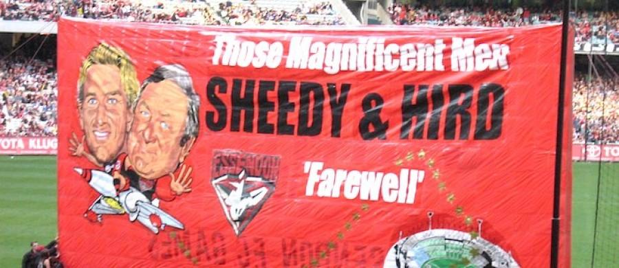 Hird and Sheedy Farewell Banner