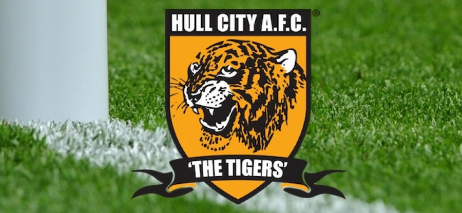 Hull City Logo on Grass