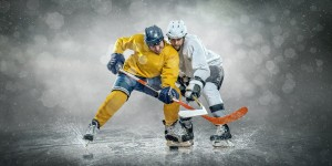 Ice Hockey Players colliding