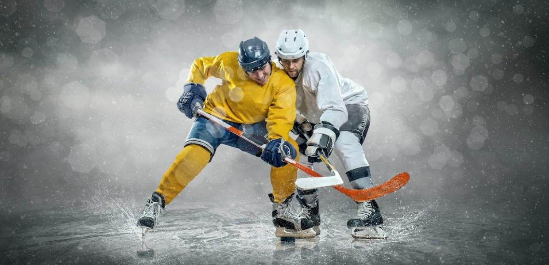 Ice Hockey Players colliding