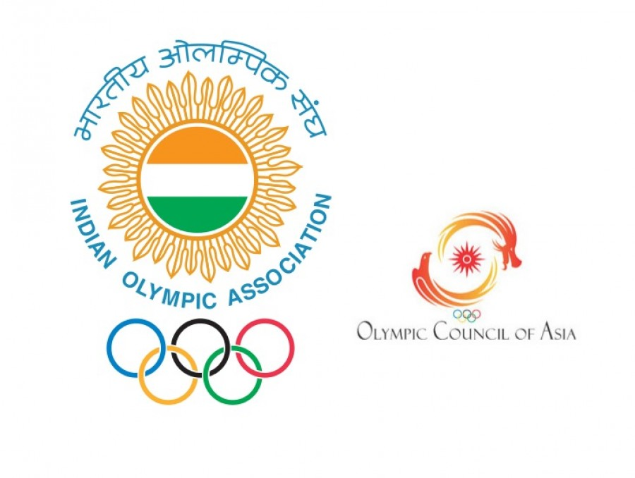 Indian Olympic Association and Olympic Council of Asia Logos