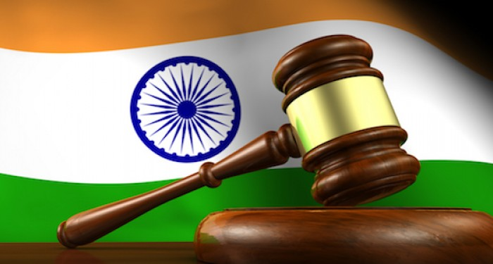 Indian flag and gavel