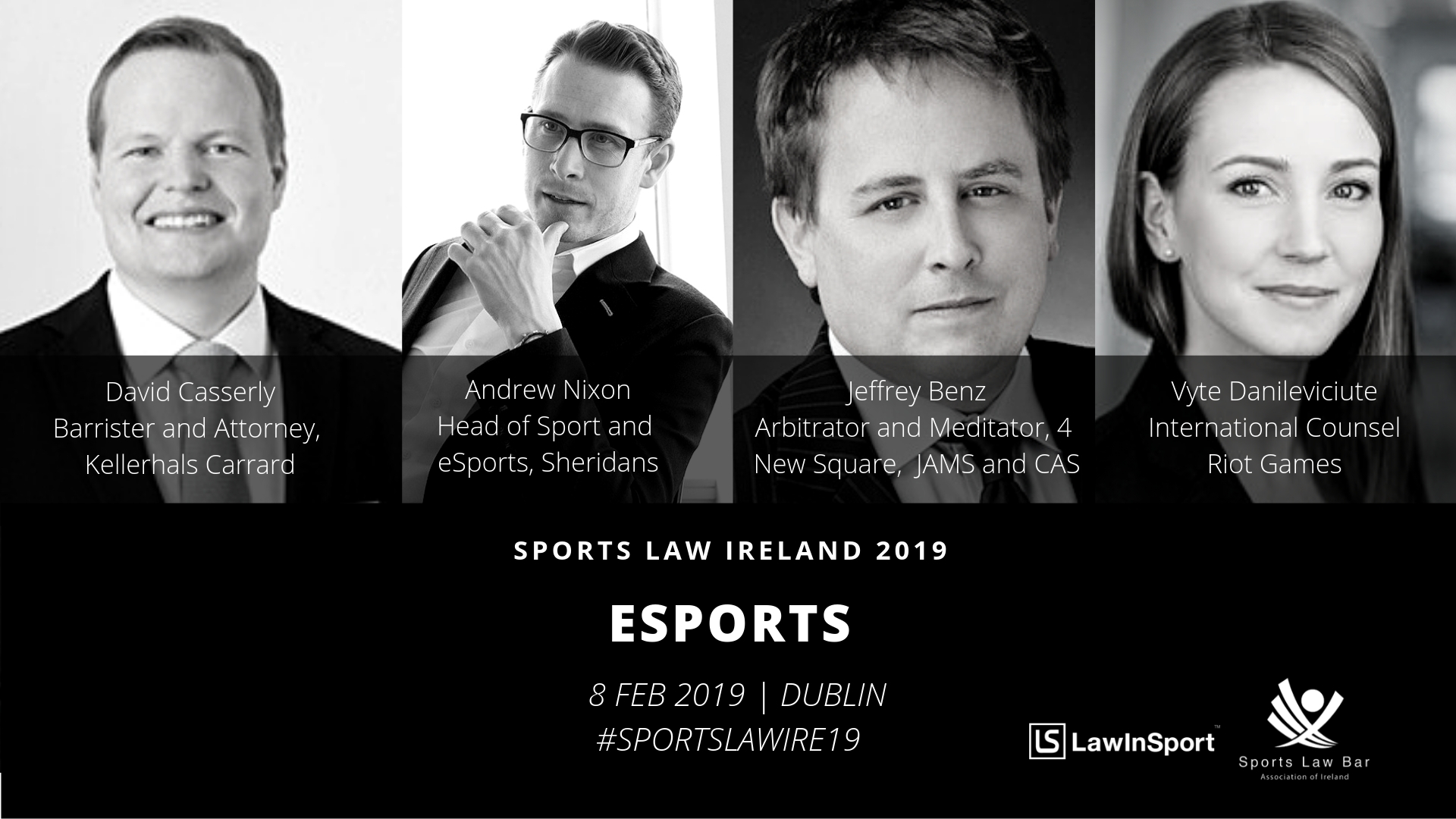 eSports Panel Speakers at Sports Law Ireland 19