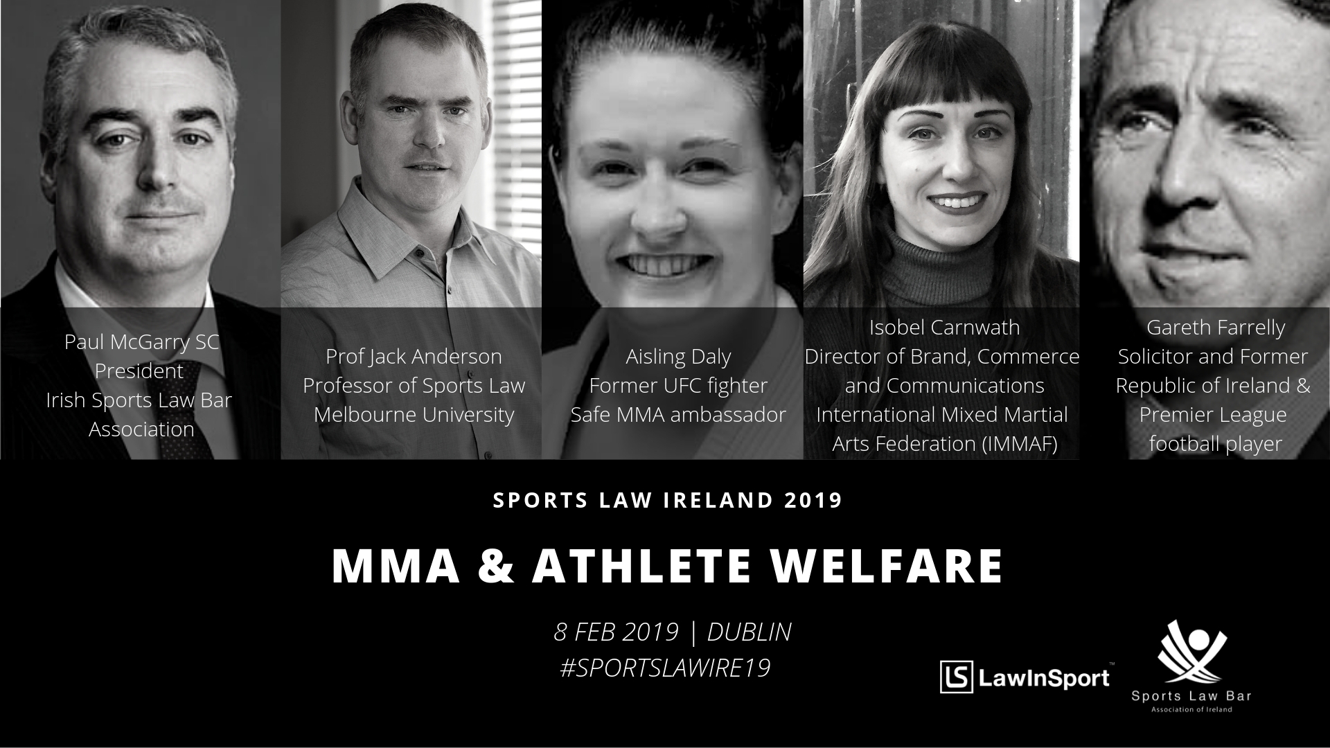 Athlete Welfare Panel Speakers at Sports Law Ireland 19