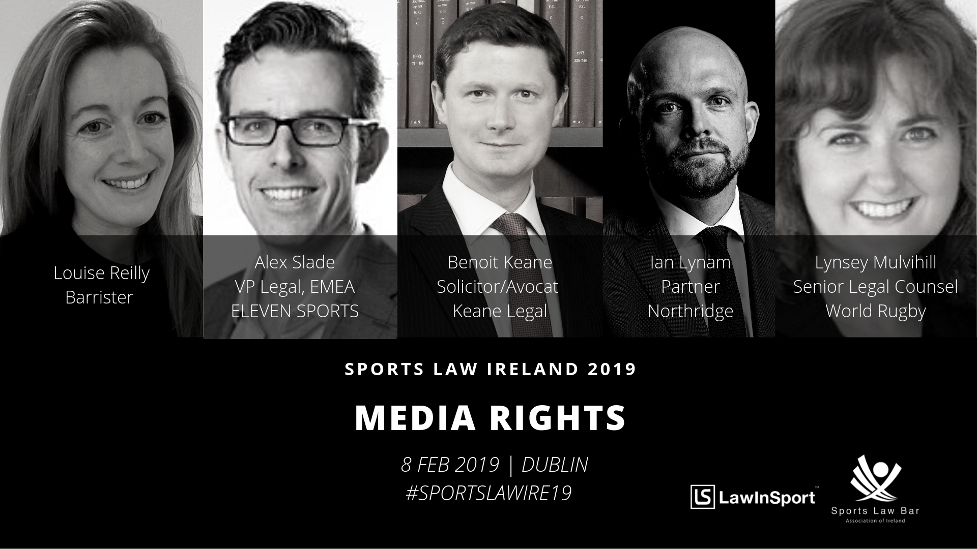 Sports Media Rights Panel Speakers at Sports Law Ireland 19