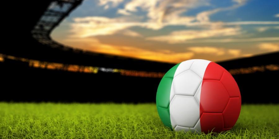 Italy Flag on Football field