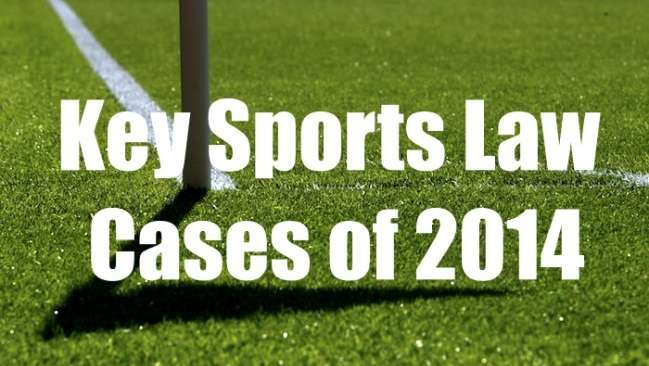 Title image - Key sports law cases of 2014