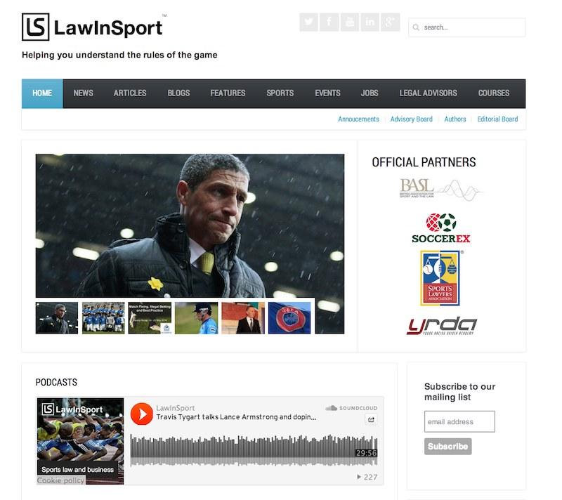 LawInSport responsive design