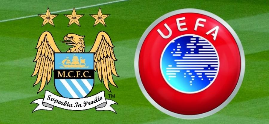 Man City F.C. and UEFA Logo