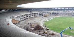 Maracana stadium under construction