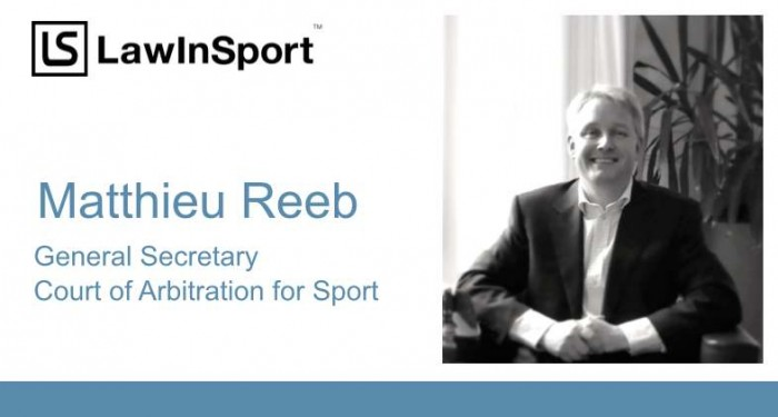 Matthieu Reeb at the Court of Arbitration for Sport