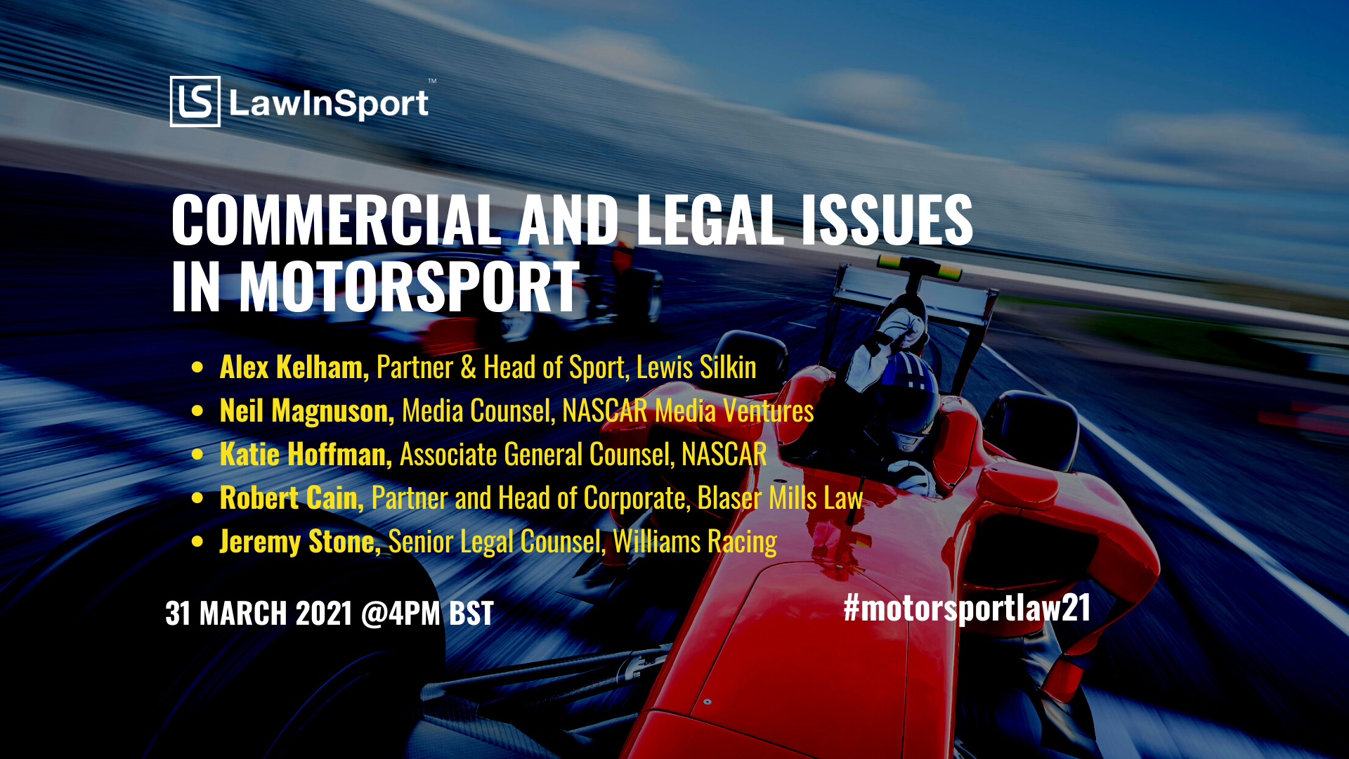 Title image - commercial & legal issues in motorsport
