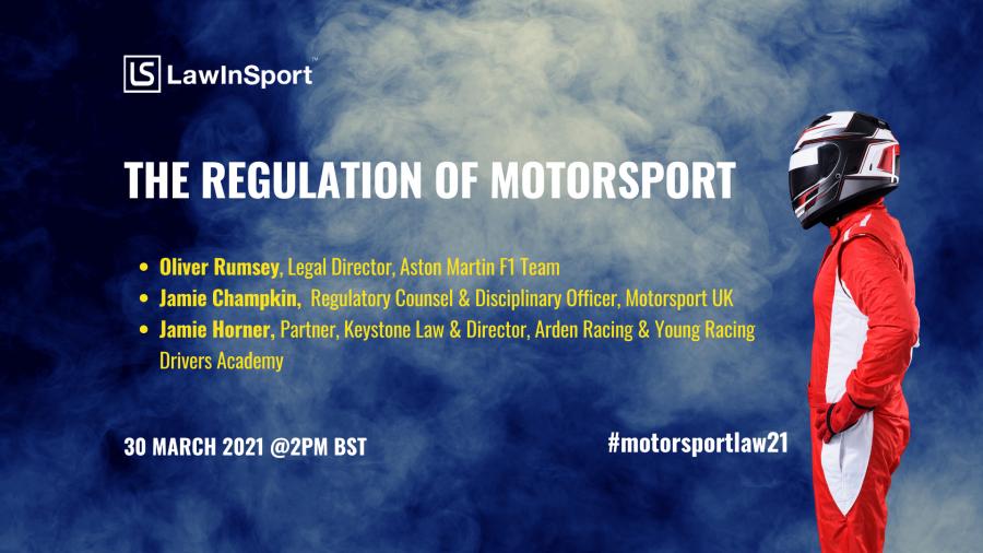 Title image - the regulation of motorsport