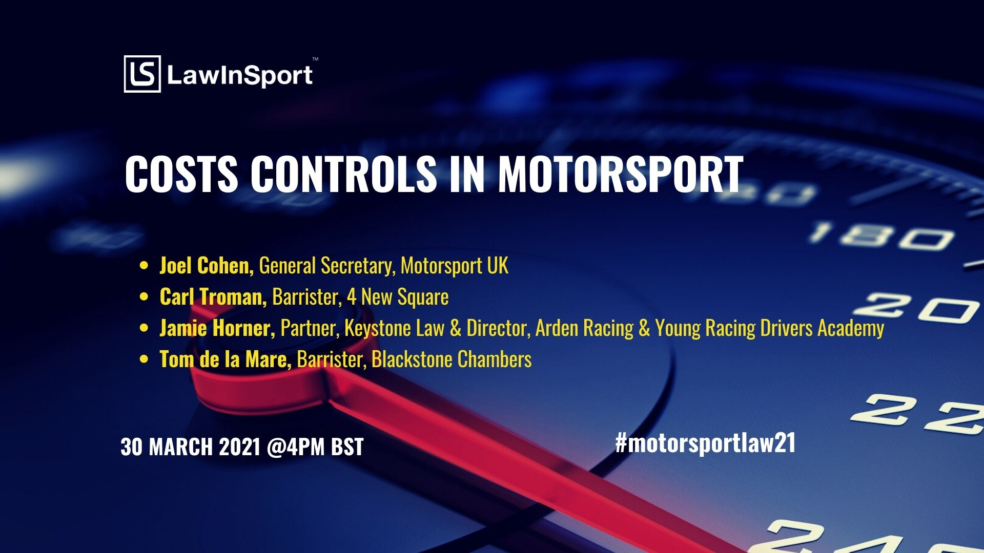 title image - cost controls in motorsport