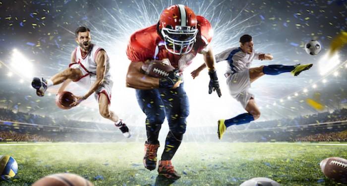 Multisports athletes running under stadium rights