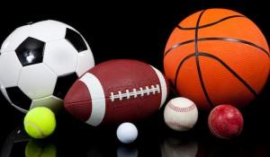 Multiple sports on black background