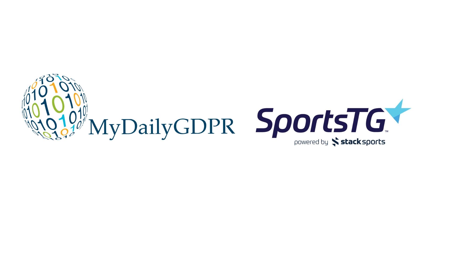 MyDailyGDPR and SportsTG logos