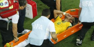 Neymar on Stretcher at World Cup