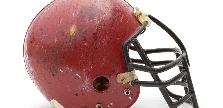 Old American Football Helmet