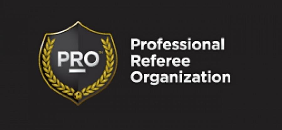 Professional Referee Organization Logo
