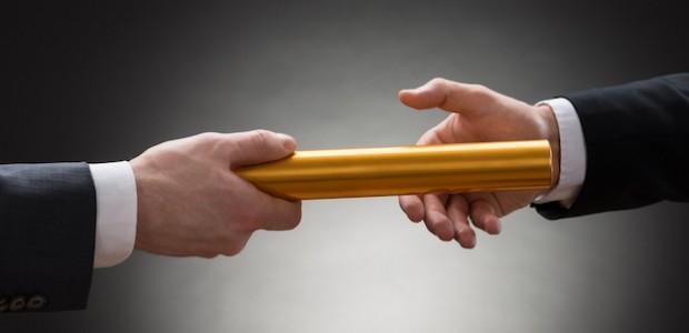 Passing a golden baton