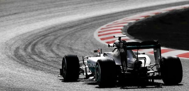 Mercedes F1 AMG Petronas car on race track