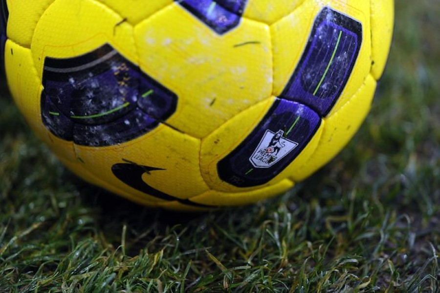 Premier League Badge on Football