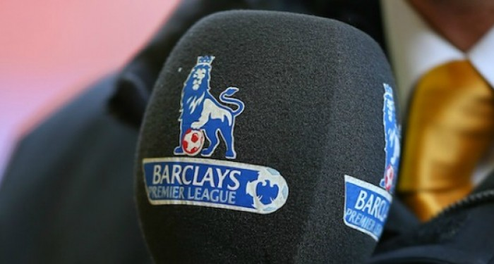 Premier League Logo on Microphone