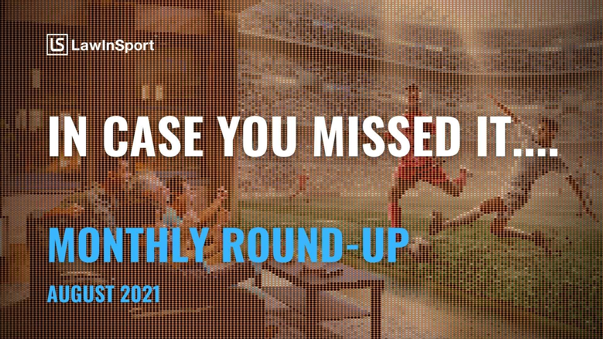 LawInSport August Roundup