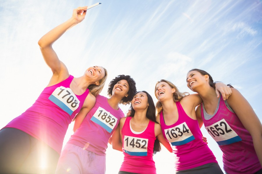 Runners for breast cancer support