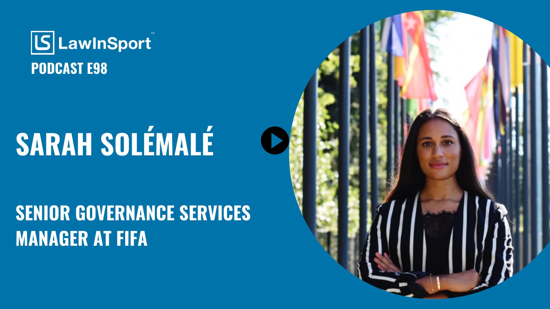 Sarah Solémalé, Senior Governance Services Manager at FIFA
