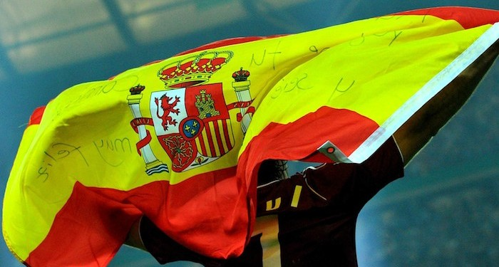 Spanish Flag aloft