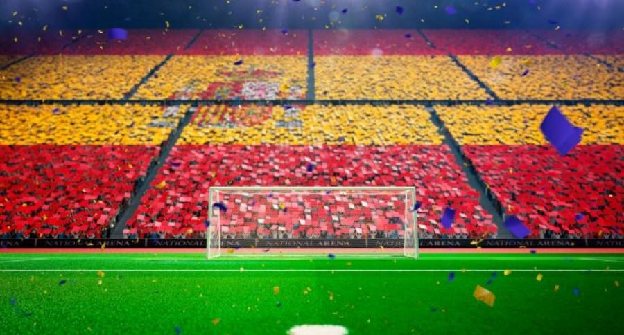 Spanish Flag at football stadium
