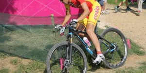 Spanish Mountain Biker at London 2012