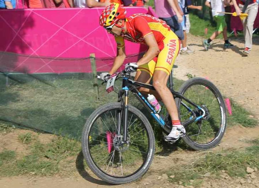 Spanish Mountain Biker at London 2012