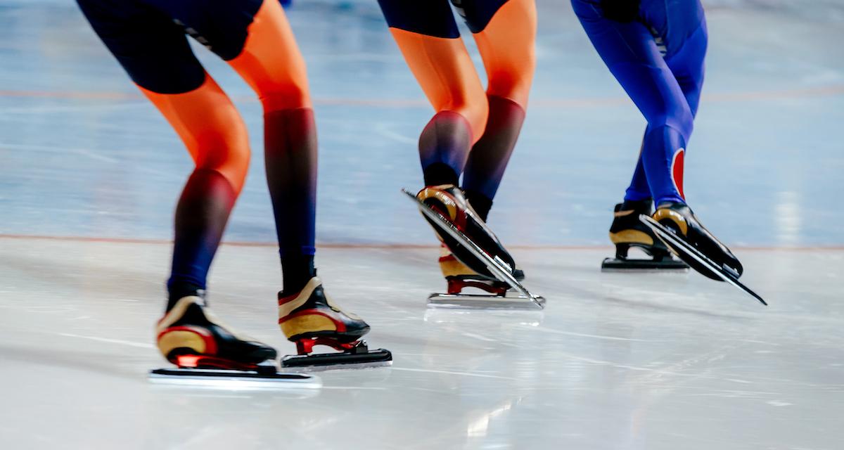 Speed Skaters Racing
