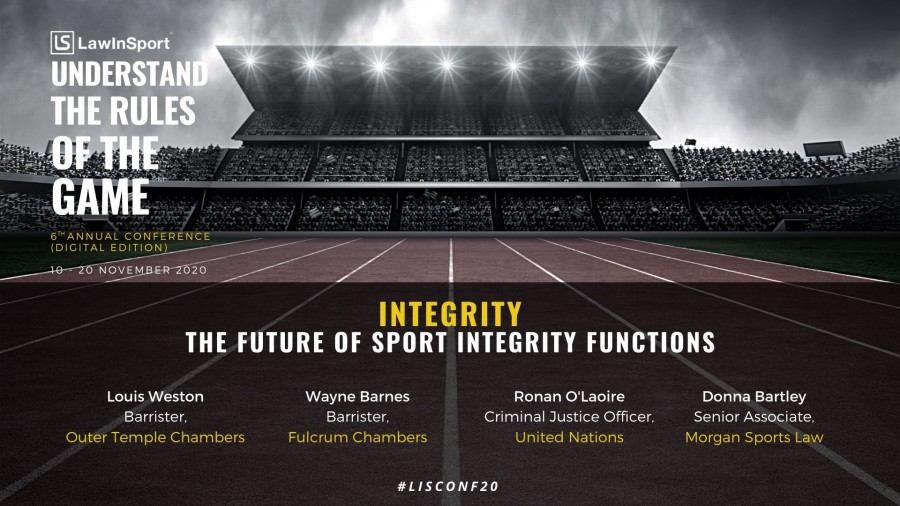 The future of sports integrity functions to be discussed at LawInSport's Annual 6th Conference