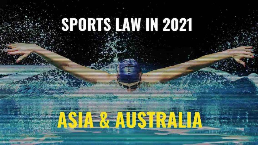Title image of swimmer - Sports law in 2021 – key issues to watch in Africa, Asia & Australia