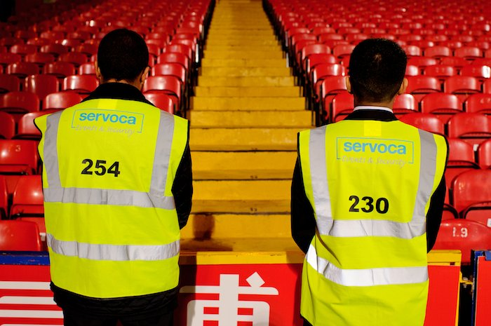 Stewards Waiting for Fans to Arrive