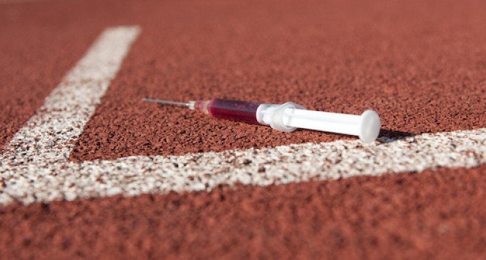 Syringe on race track