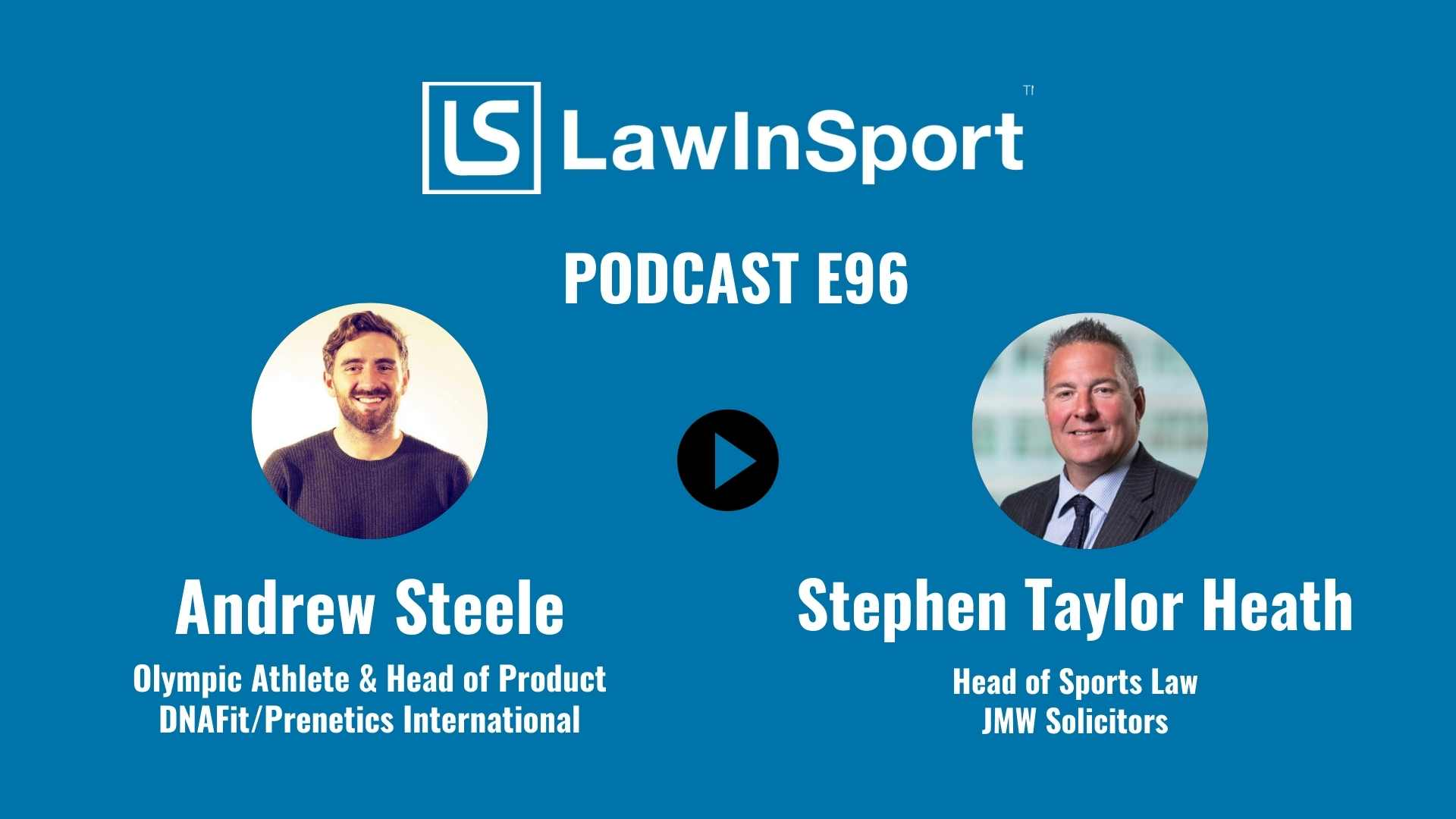 Andrew Steele and Stephen Taylor Heath - LawInSport Podcast Episode 96
