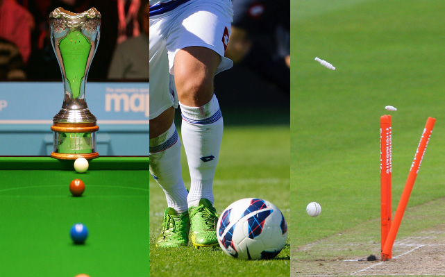 Snooker, Football, Cricket
