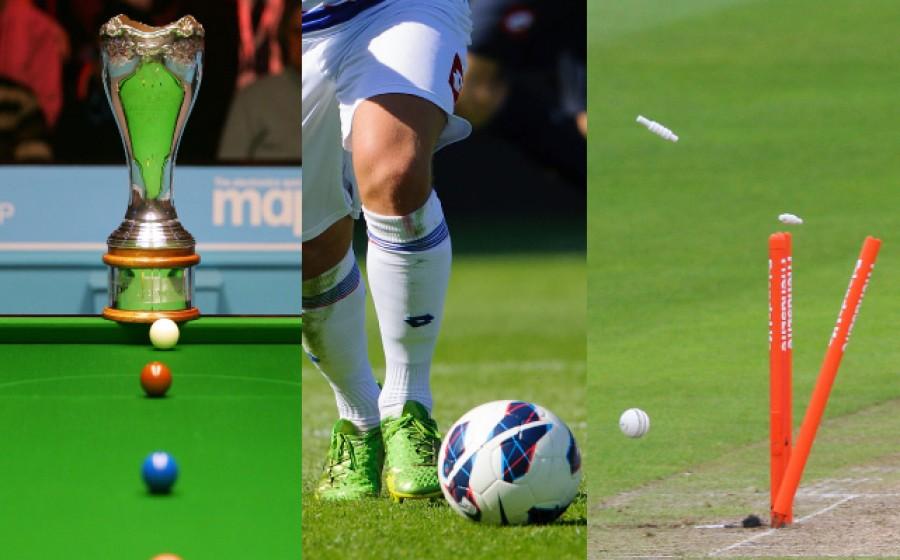 Snooker, Football, Cricket
